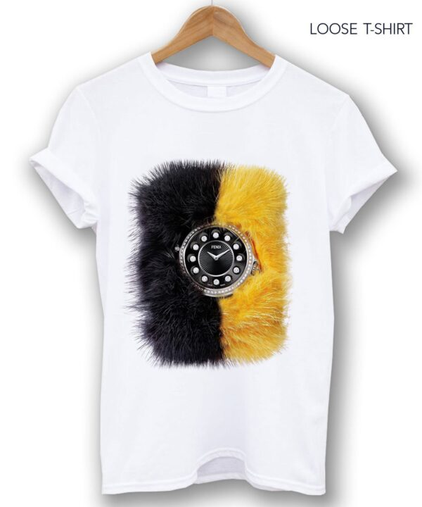 fendi loose white tee