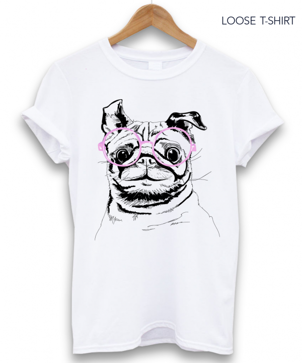 dog with glasses t shirt